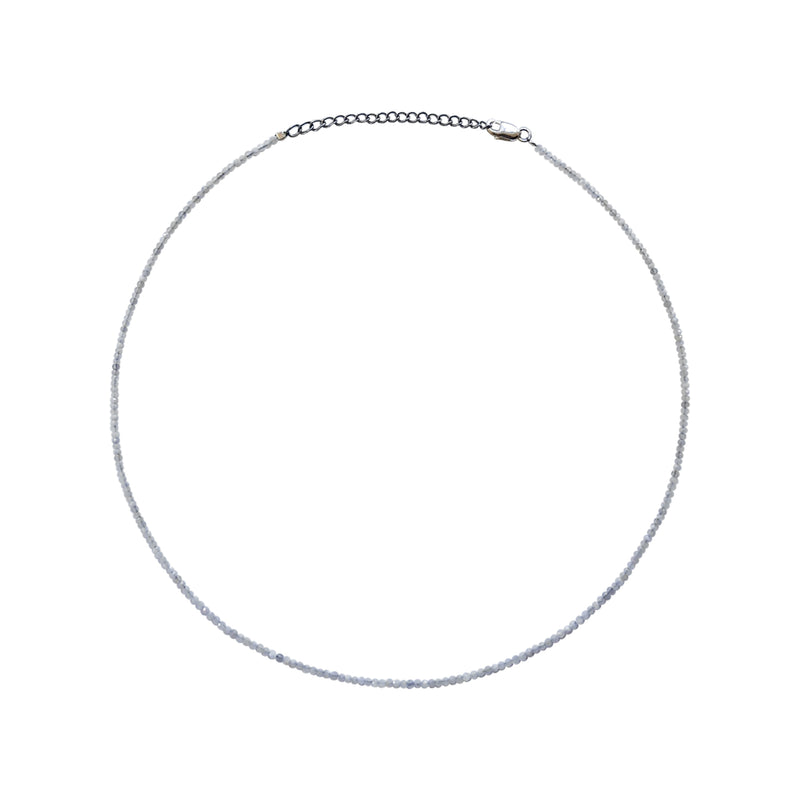 Dainty White Moonstone Layering Necklace