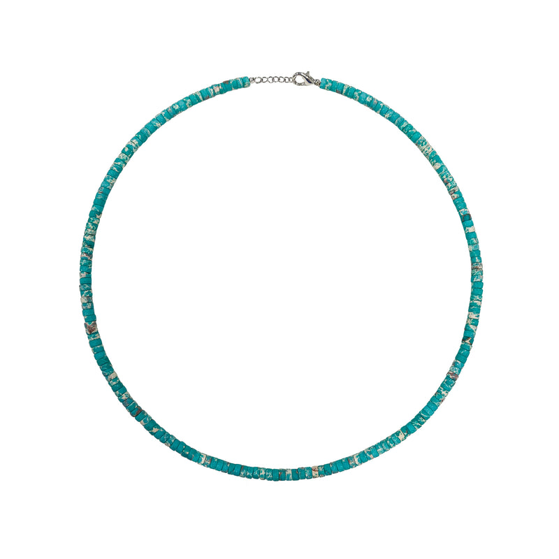 Turquoise Washer Bead Necklace- ALL NEW BOUTIQUE EXCLUSIVE
