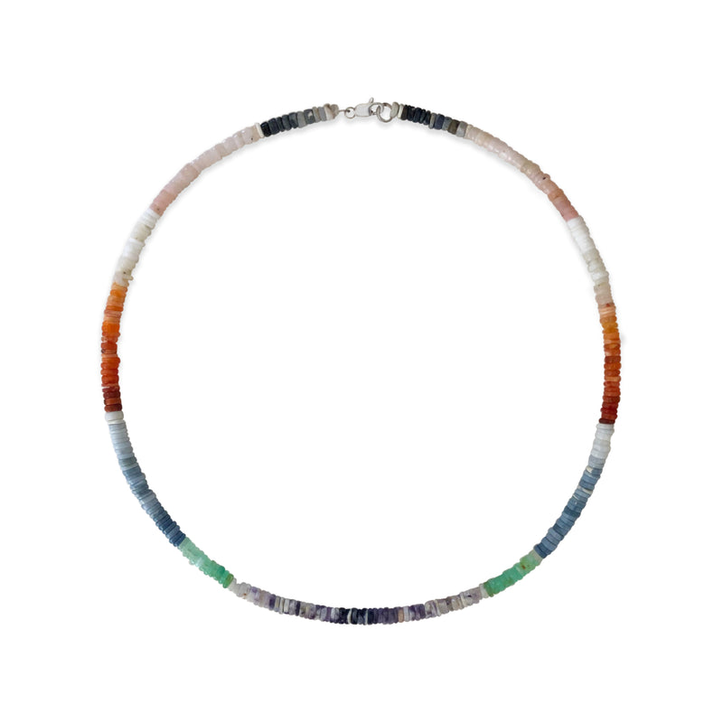 Fall Tone  African Opal Beaded Layering Necklace