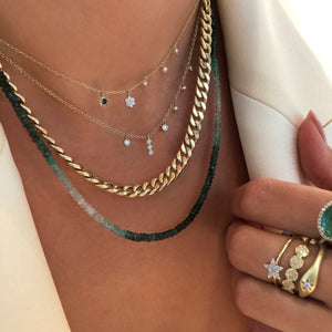 Ombre Emerald Layering Necklace