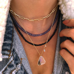 Sapphire Bead Layering Necklace