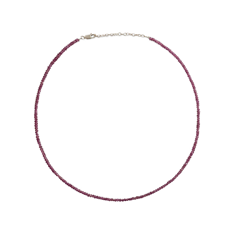 Dainty Ruby Layering Necklace
