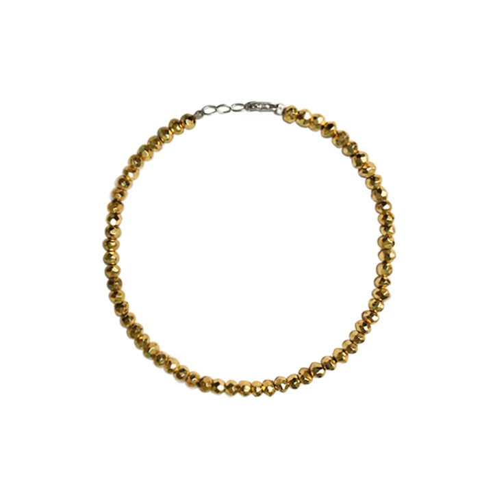 Gold Pyrite Beaded Bracelet