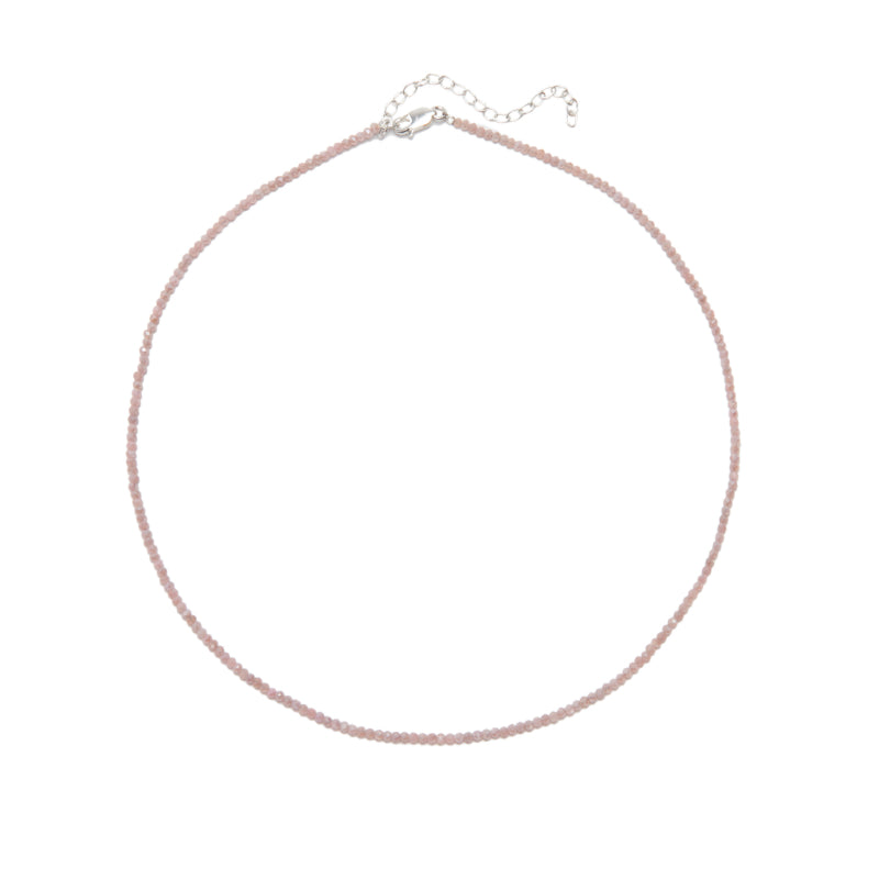 Dainty Pink Opal Layering Necklace