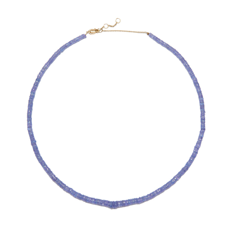 Light Purple Tanzanite Beaded Necklace