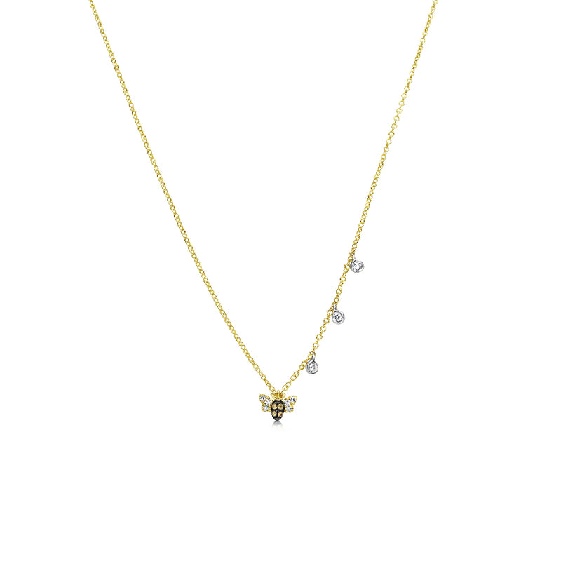 14k Gold Bee Necklace