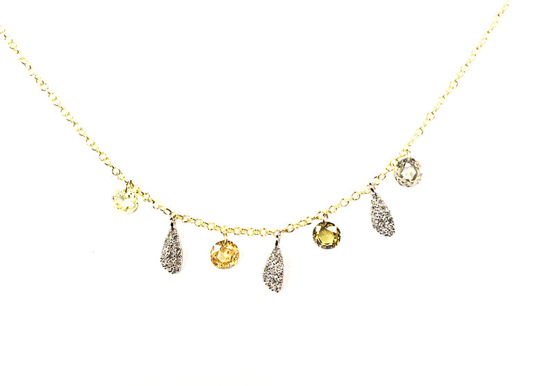 Yellow Gold Multicolored Necklace