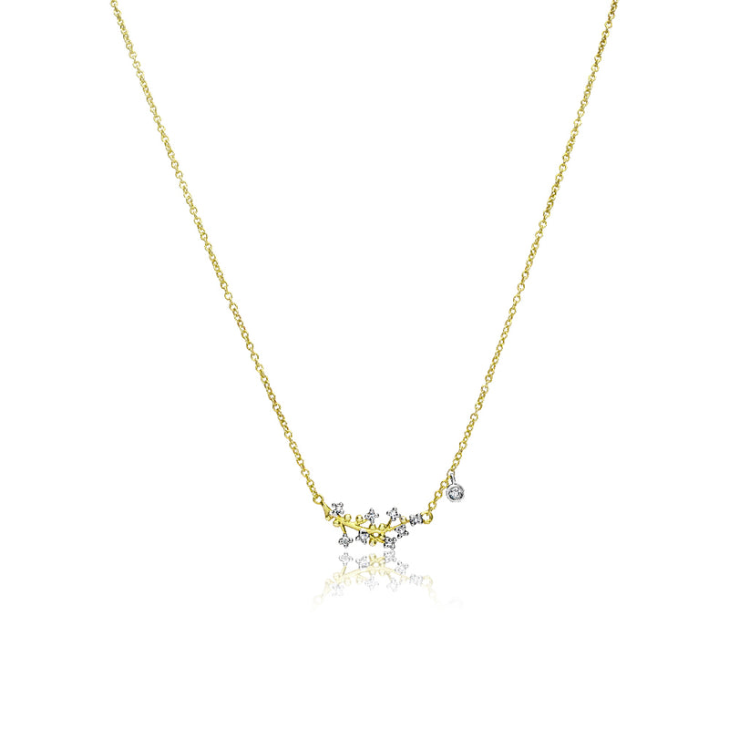 Flower Branch Diamond Necklace