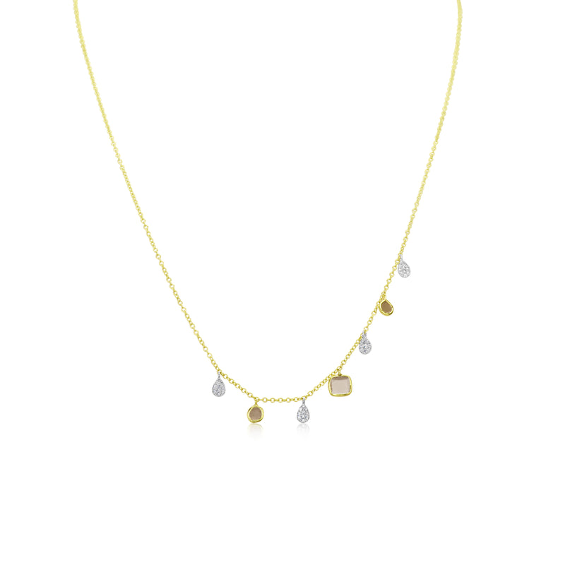 Yellow Gold Rough Diamond Necklace