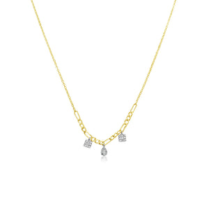 Double Chain Charm Necklace