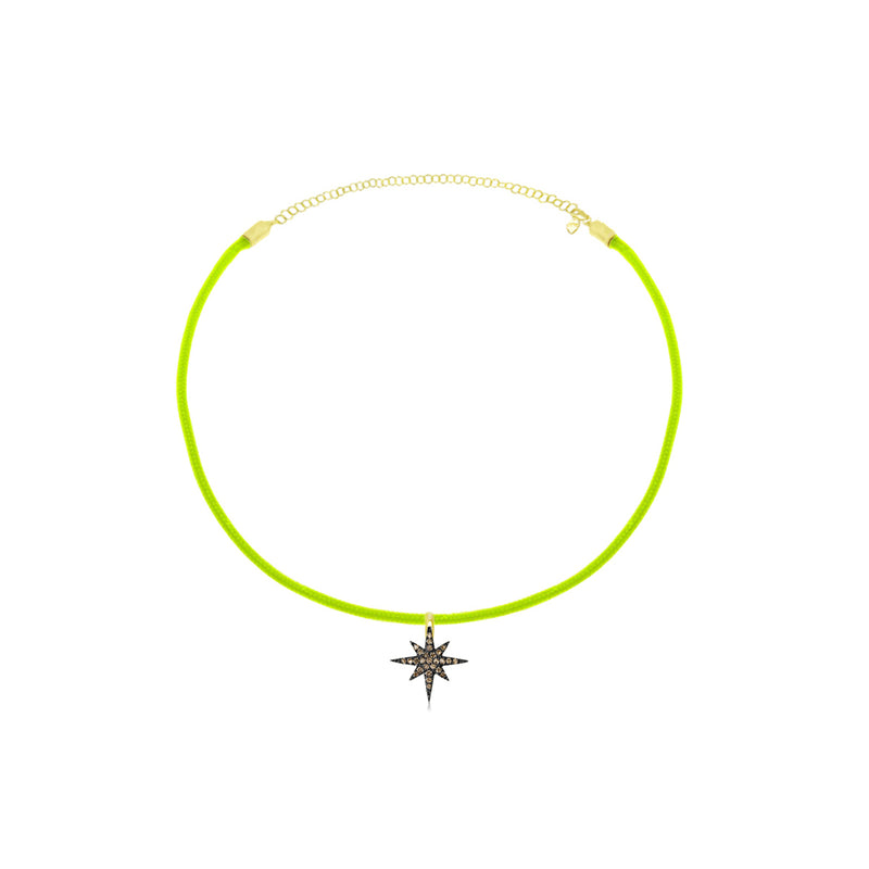 Neon Yellow Starburst Necklace
