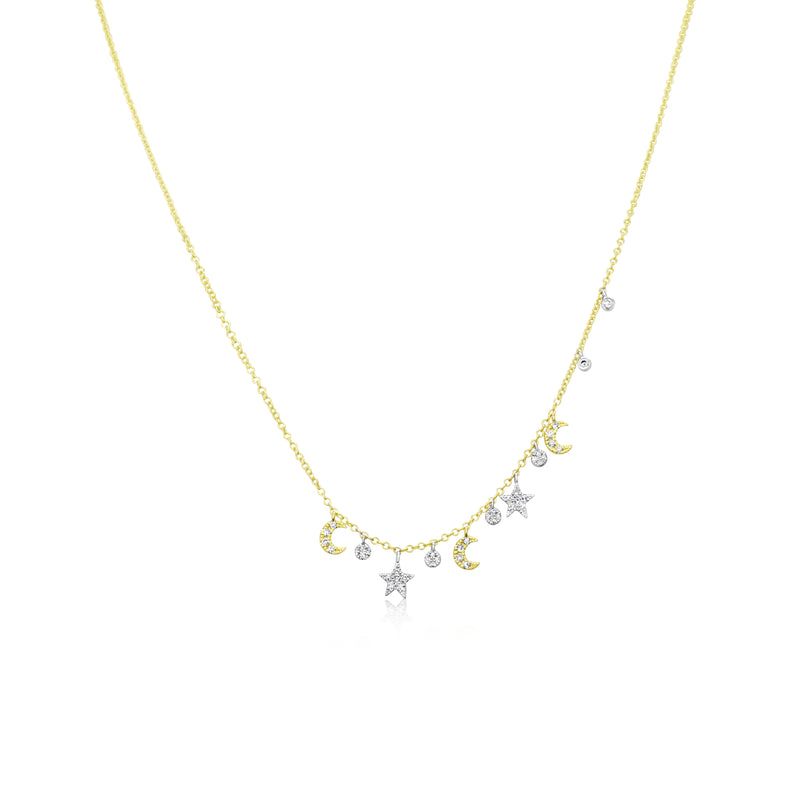 Meira T Moon and Star Necklace
