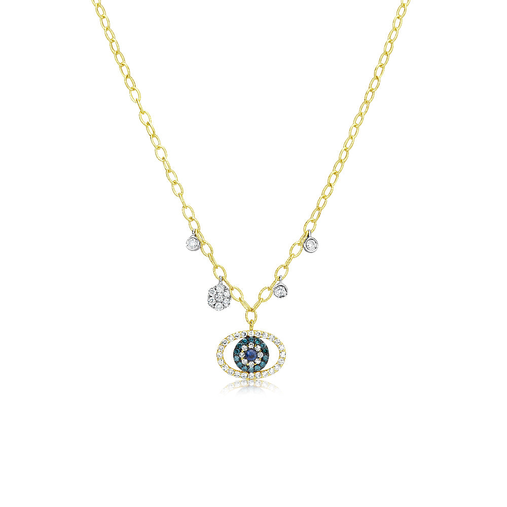 Link Chain Evil Eye Necklace