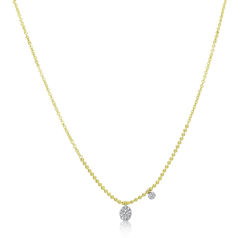 Meira T Disc Ball Chain Necklace