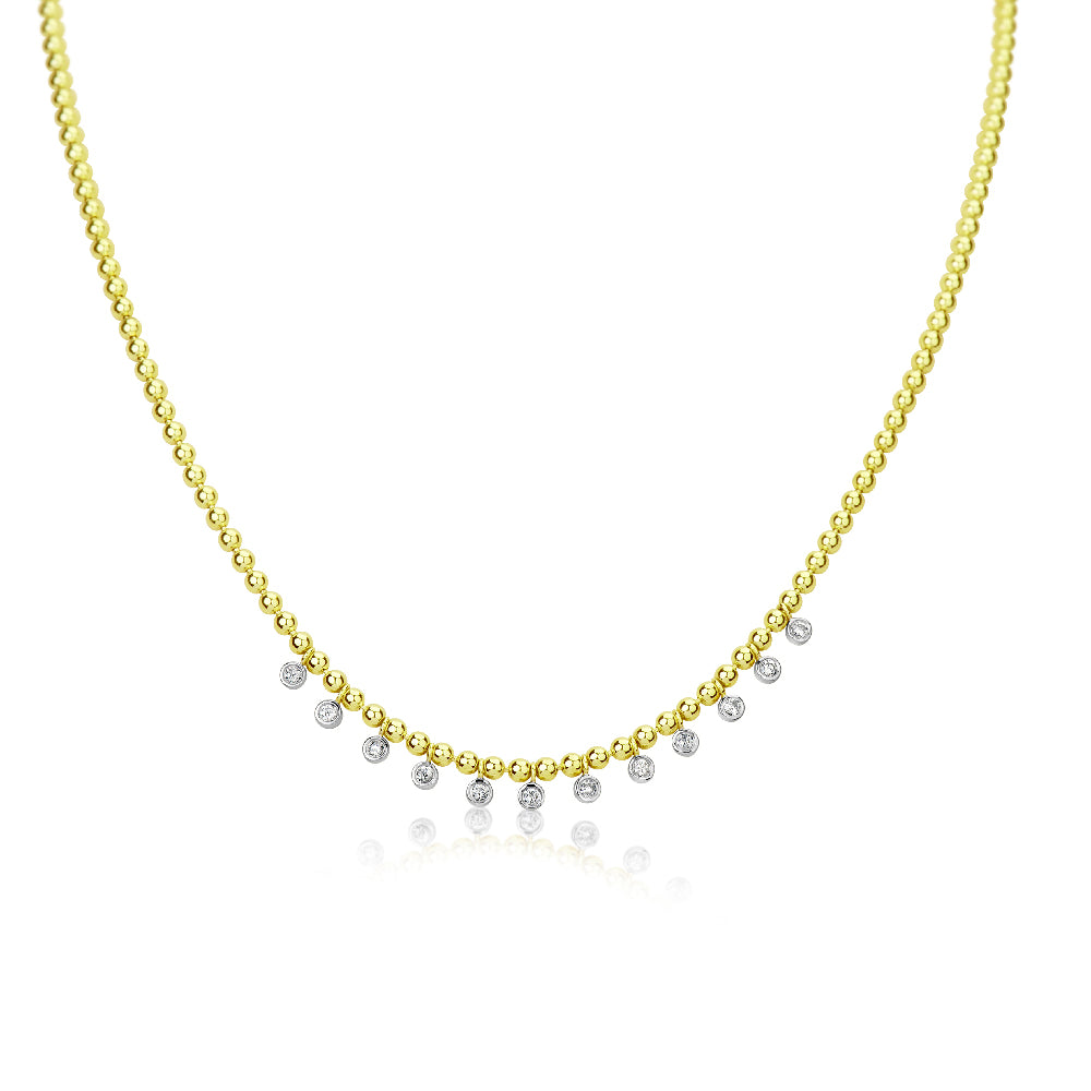 Spot Chain Bezel Necklace