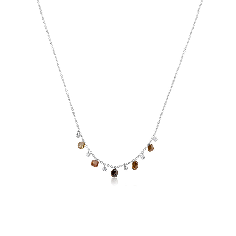 Multi Colored Rough Diamond Necklace