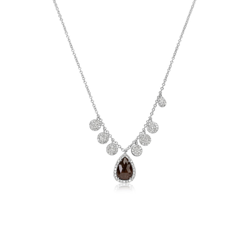 Halo Rough Diamond Disk Necklace