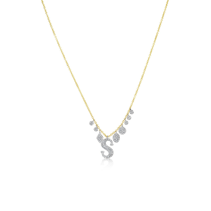 Diamond and Charms Initial Necklace