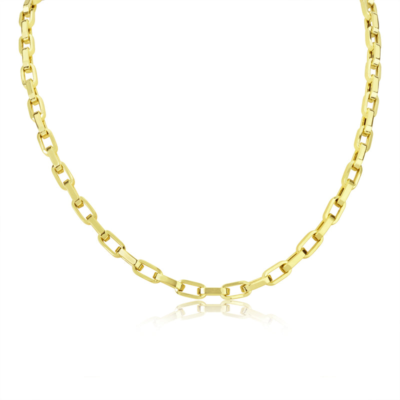 14k Gold Biker Chain Necklace