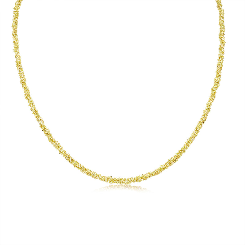 14K Yellow Gold Mesh Scarf Necklace