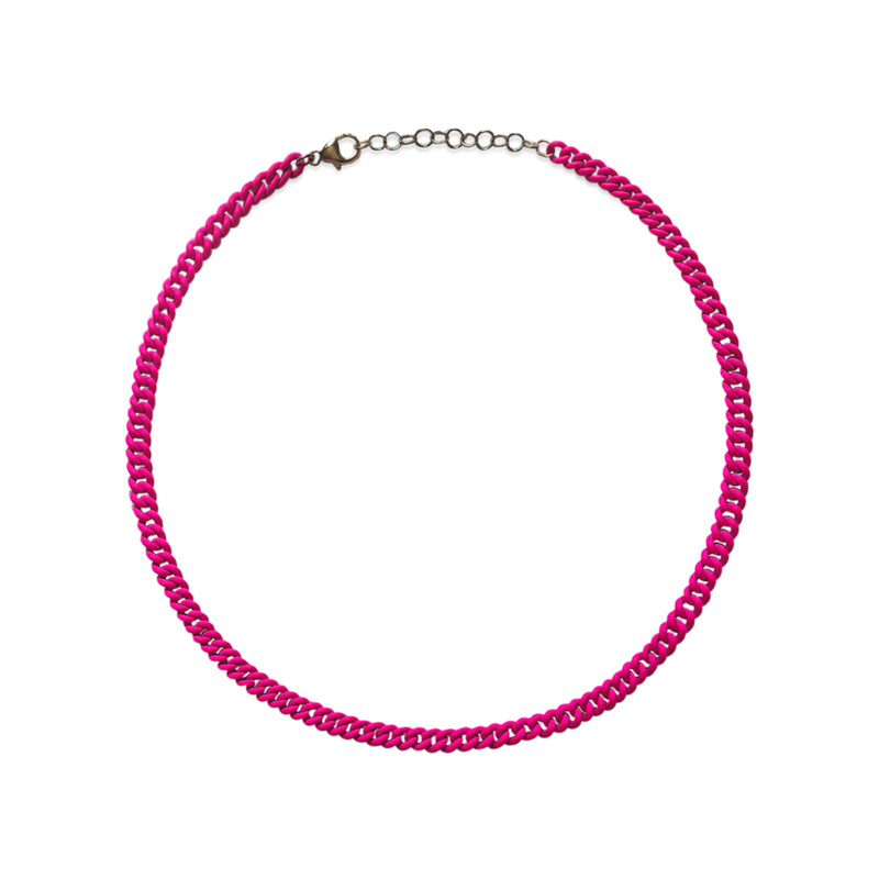 Neon Pink Curb Chain WEB EXCLUSIVE