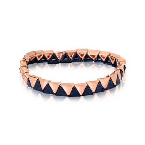 Triangle Enamel Stretchy Bracelet