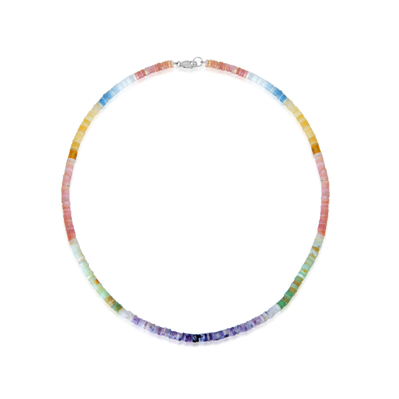 Pastel African Opal Beaded Layering Necklace