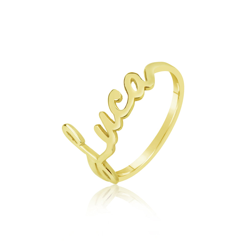 Meira T 14k Gold Name Ring
