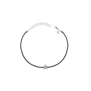 Diamond Star Black String Bracelet