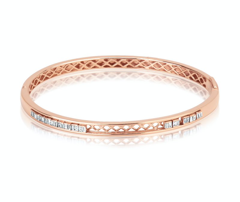 Rose Gold Chunky Bangle Bracelet