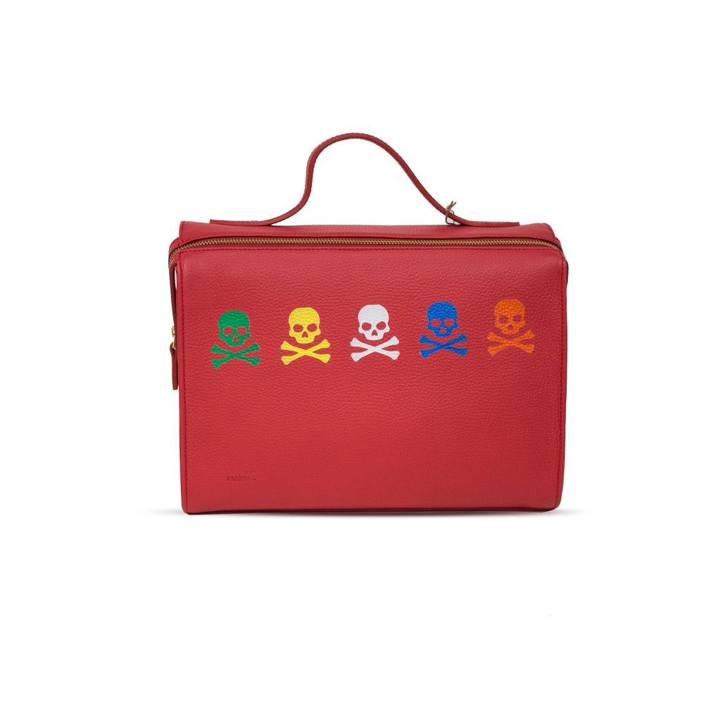 Painted Skull Bag