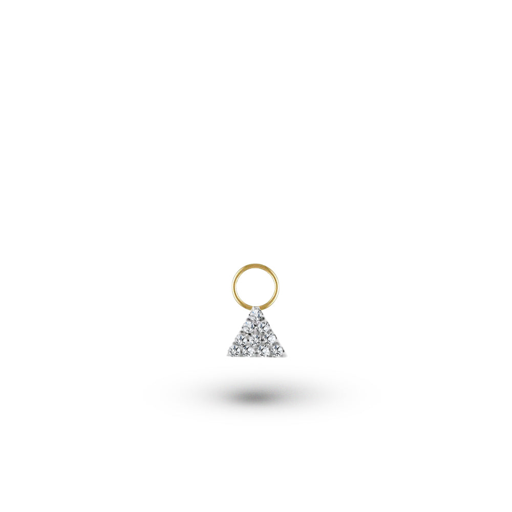 Diamond Triangle Charm