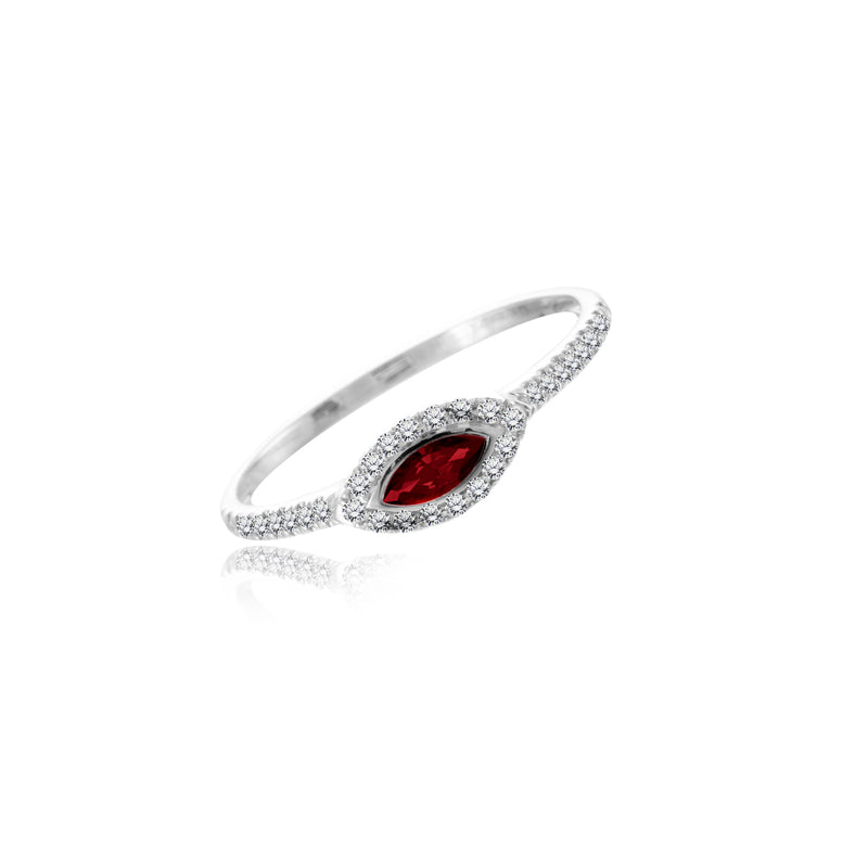 Evil Eye Ruby Ring