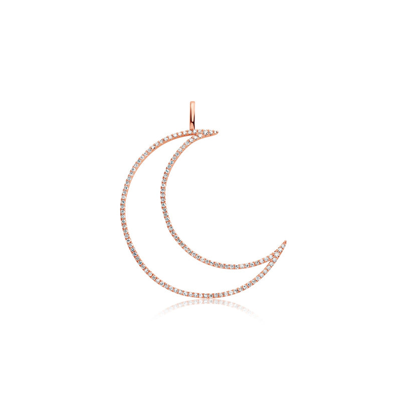 Chunky Rose Gold Moon Charm