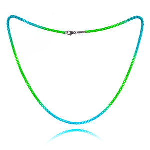 Turquoise and Neon Green Ombre Chain- ALL NEW BOUTIQUE EXCLUSIVE