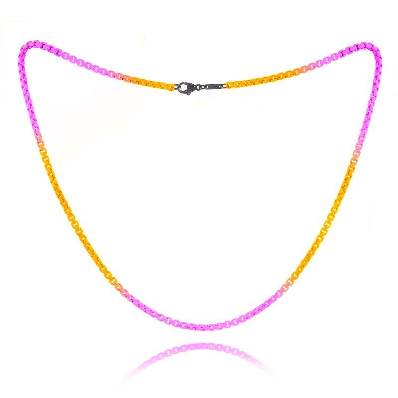 Neon Pink and Neon Orange Ombre Chain- ALL NEW BOUTIQUE EXCLUSIVE