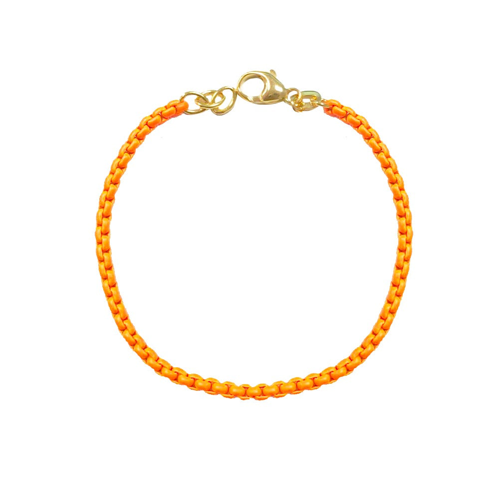 Neon Orange Chain Bracelet (All New!)