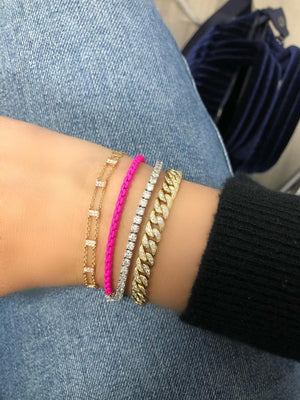 Neon Pink Chain Bracelet (All New!)
