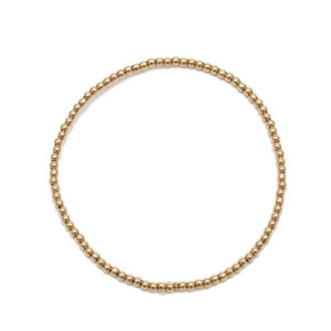 3mm Yellow Gold Fill Ball Bracelet