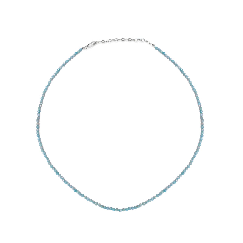 Dainty Blue Moonstone Bead Layering Necklace