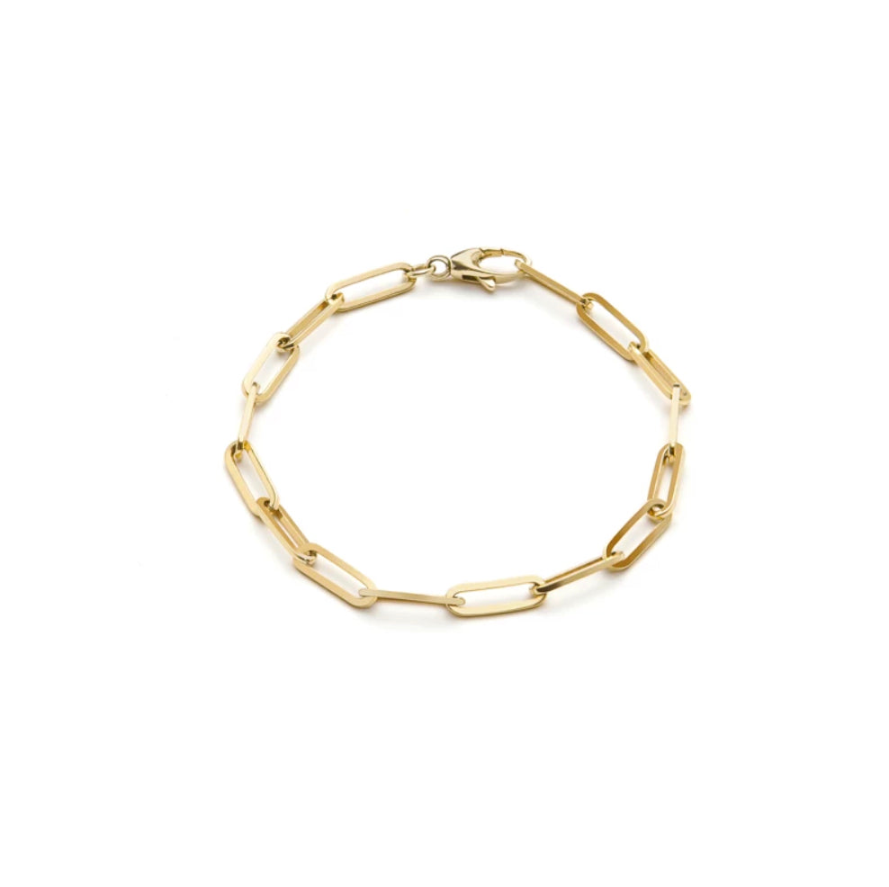Yellow Gold Chunky 10mm Gold Bracelet