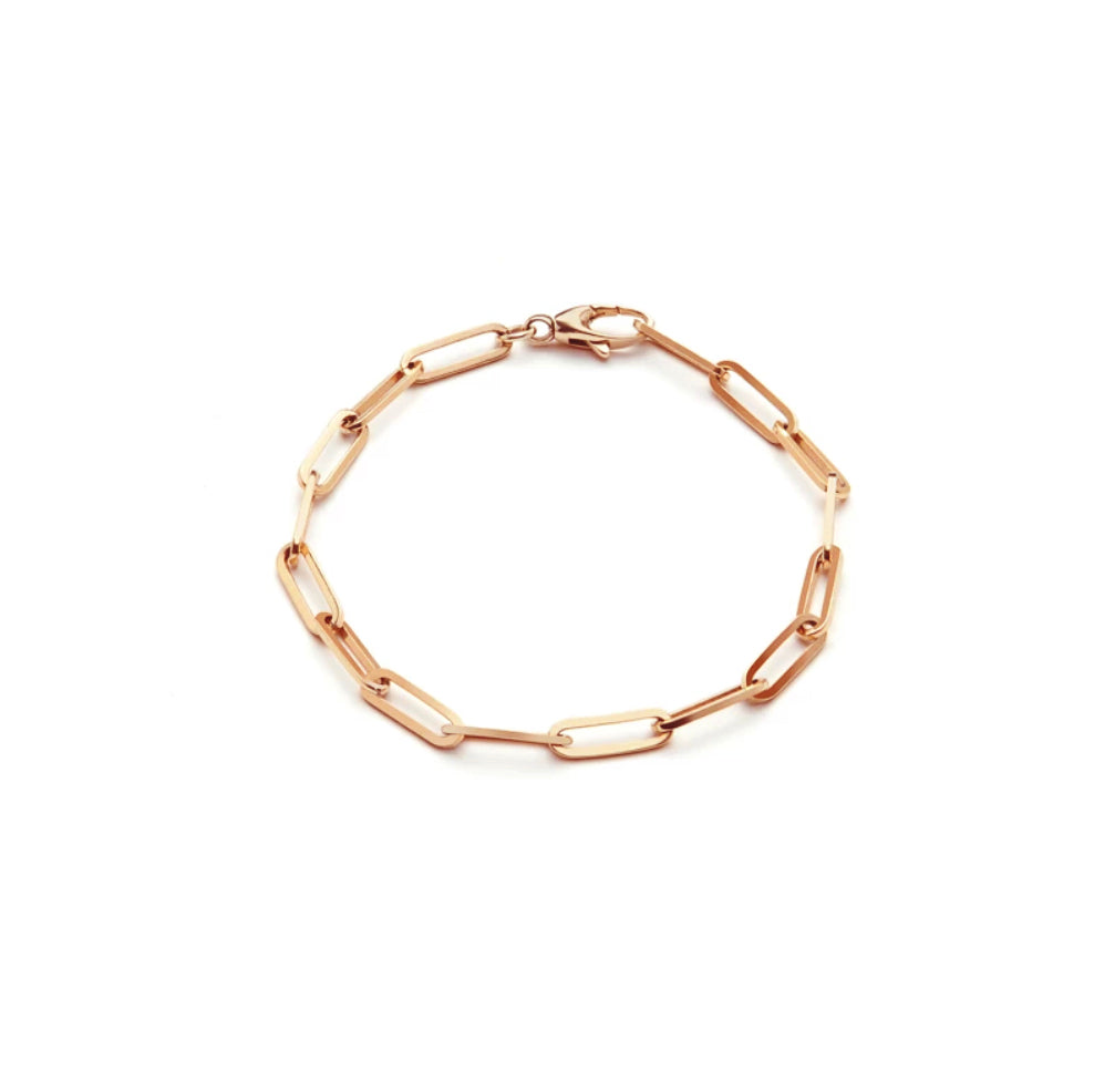 Rose Gold Chunky 10mm Gold Bracelet
