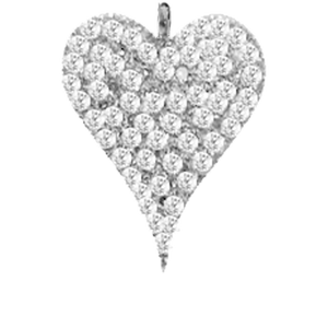 White Gold Heart