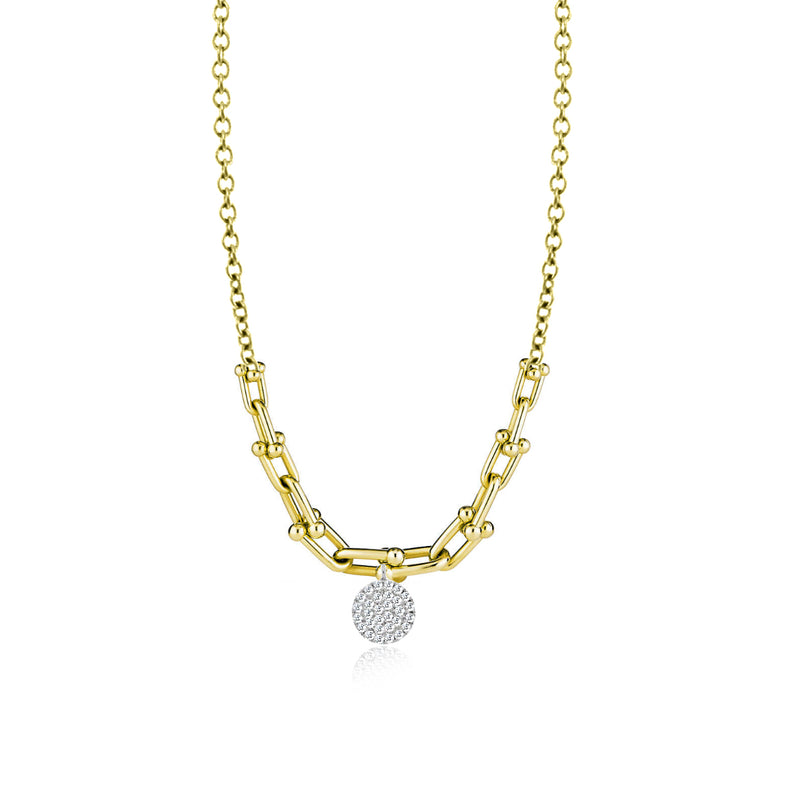 Half Chain Diamond Necklace