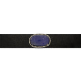 Tanzanite and Brown Diamond Leather Choker