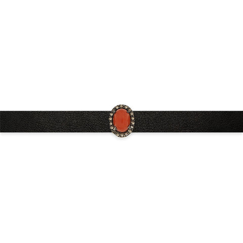 Moon Choker with Diamond Bezels