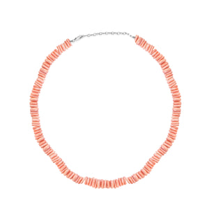 Light Peach Washer Bead Coral Necklace