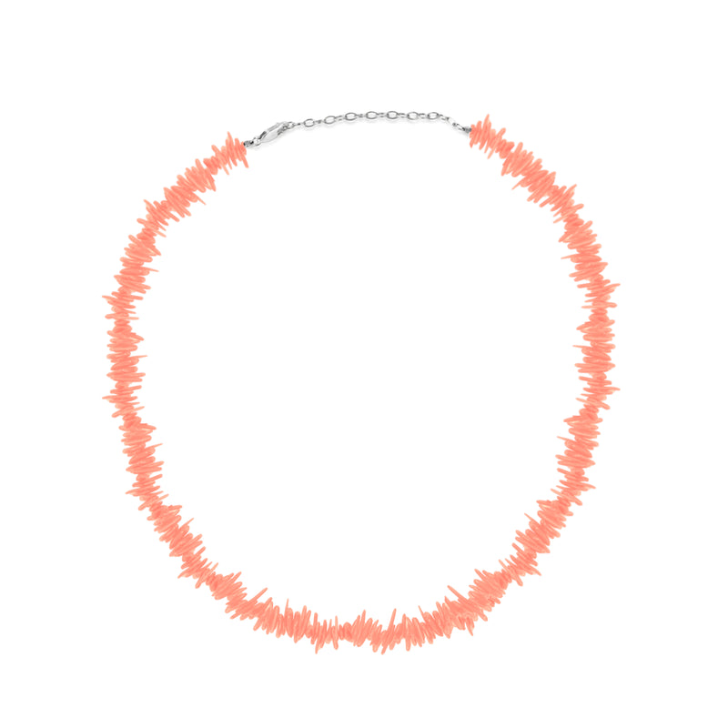 Peachy Pink Coral Beaded Necklace