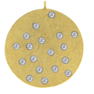 Gold Disc Diamond Dots