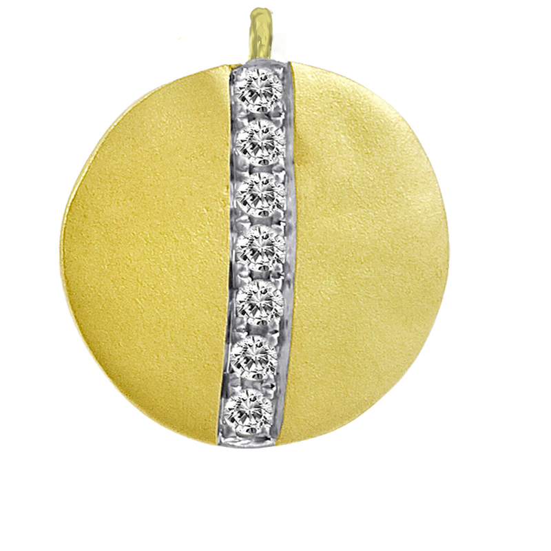 Gold Disc Pave Line